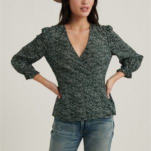 Lucky Brand Printed Amelia Wrap Top/Blouse